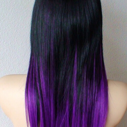 purple hair extensions