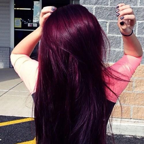 purple red hair