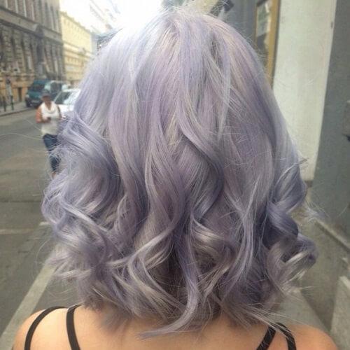 silver purple hair colour