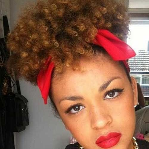 Bandana Hairstyles for Short Curly Hair