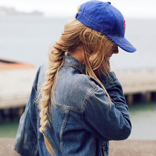 Braid and Cap Hairstyle