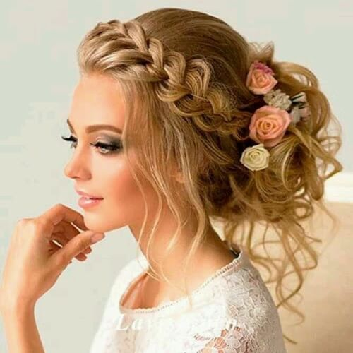 Bridal Braid and Bun