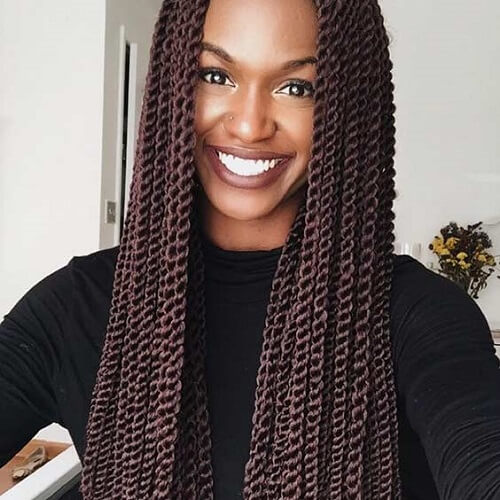 Brown Senegalese Twist
