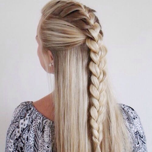 Classic Half Up French Braid