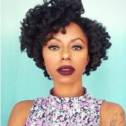 Cute Hairstyles For Short Natural Curly Black Hair
