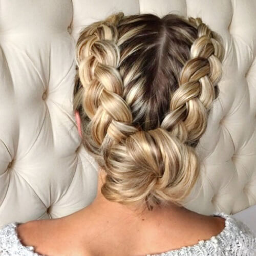 Dutch Braid Chignons