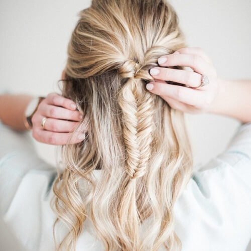 Fishtail Braid Hairstyles for Medium Length Hair