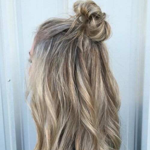 half up medium length hairstyles