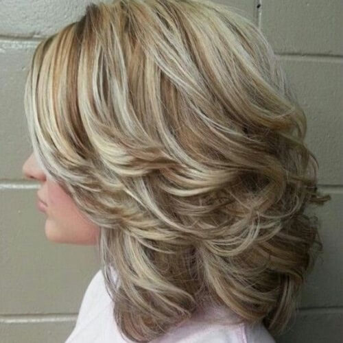 Layered and Swept Back Hairstyles