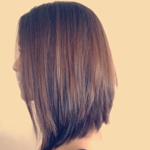 Long Bob Medium Length Hairstyles for Thick Hair