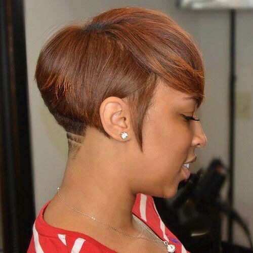Pixie Haircuts with Shaved Designs