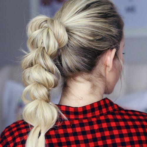 Pull Through Braided Hairstyles for Medium Length Thick Hair