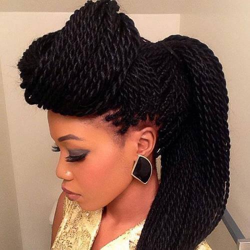 Senegalese Twist Updo