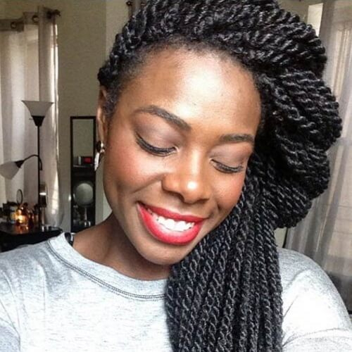 Senegalese Twist with Hair Crowns