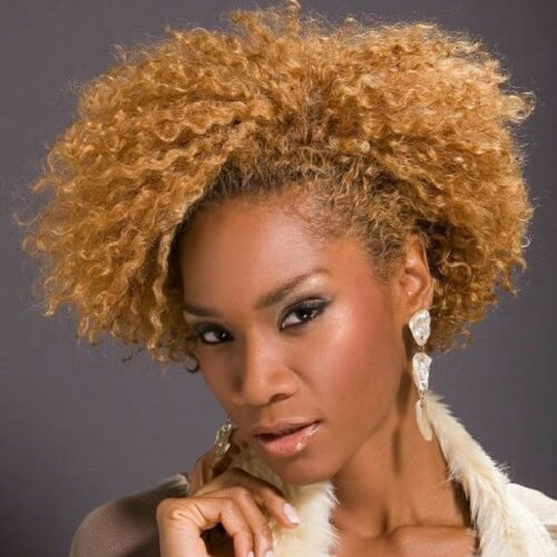 Short Blonde Hairstyles for Black Women