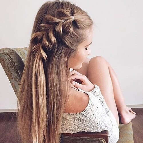 side pull through braid