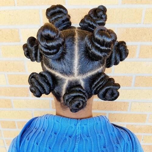 bantu knots for kids