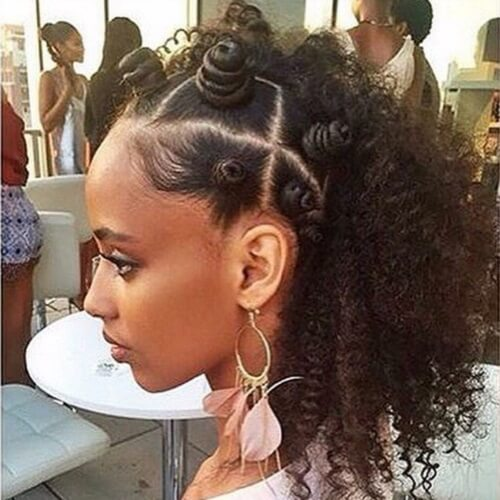 bantu knots on natural hair