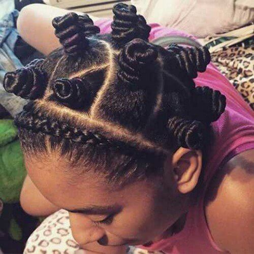 crown braid and knots
