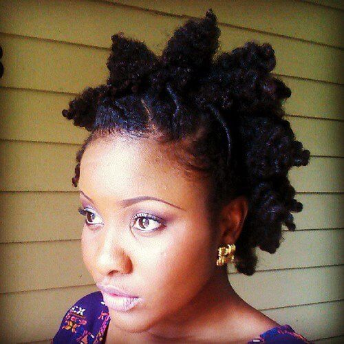 flat twist bantu knot out