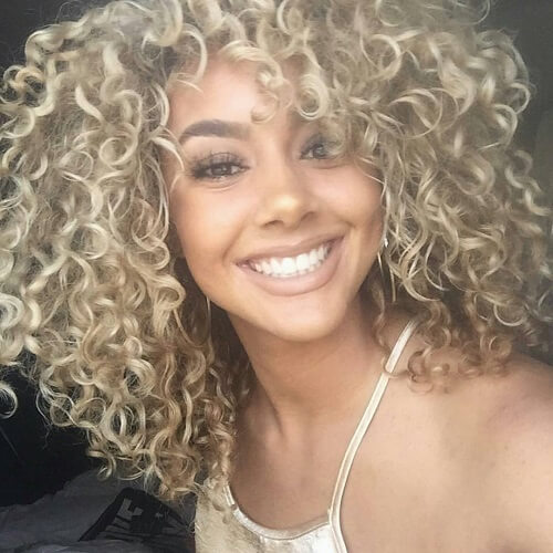 Ash Blonde Curls