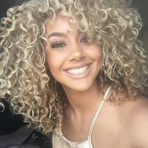 Ash Blonde Curls