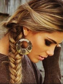 Blonde Highlights with Side Braid