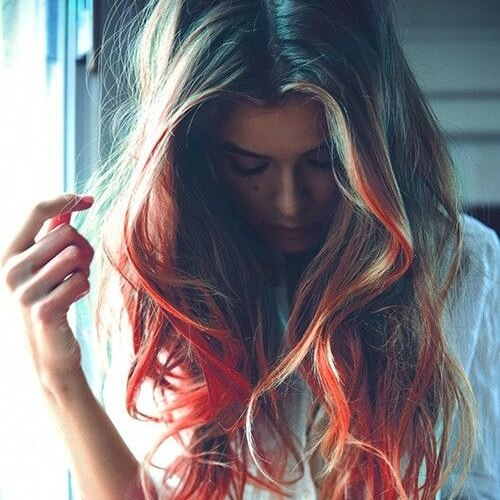 Blonde and Orange Mixture
