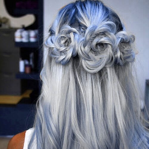 Blue and Gray Hair