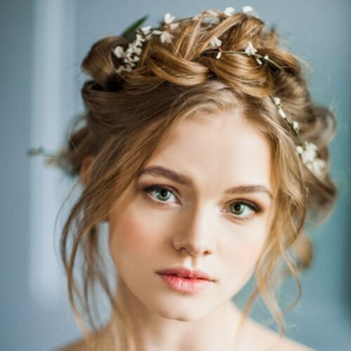 Braided Crown and Flowers