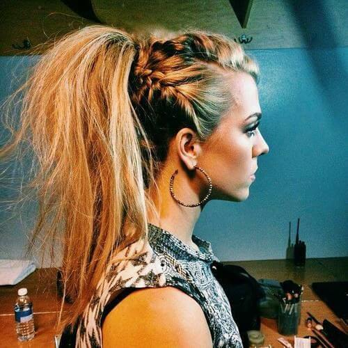 Braids and High Ponytail
