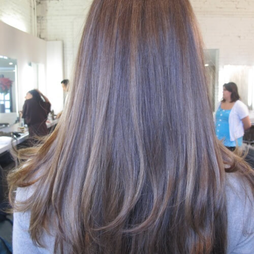 Brown Hair with Blonde Tint