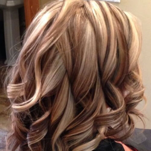 Brown Hair with Light Blonde Highlights