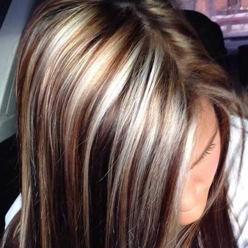 Brown Hair with Lots of Blonde Highlights