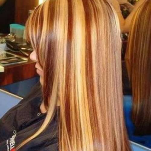 Chocolate and Caramel Streaks