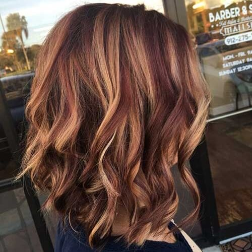 Copper Blonde Highlights