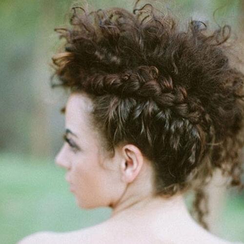Curly Hair Faux Hawk