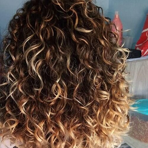 highlights on brown curly hair brown hairs