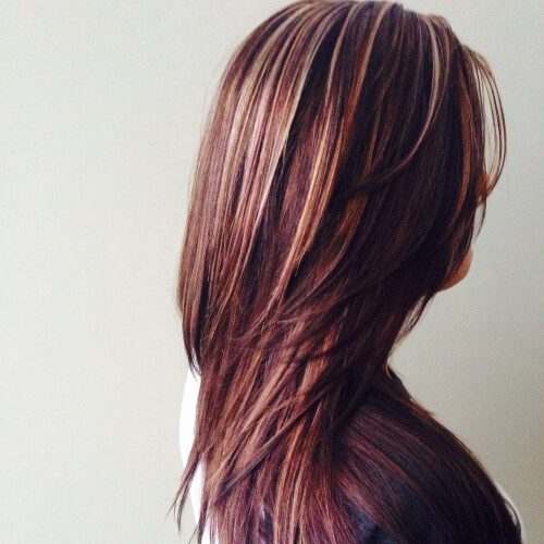 Charming Brown Hair With Blonde Highlights Suggestions Hair - Hairstyles with dark brown and red