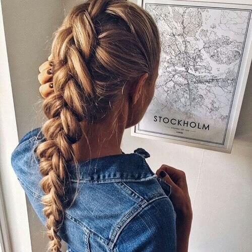Dutch Braided Ponytails
