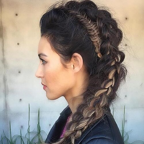 Faux Hawk Braids