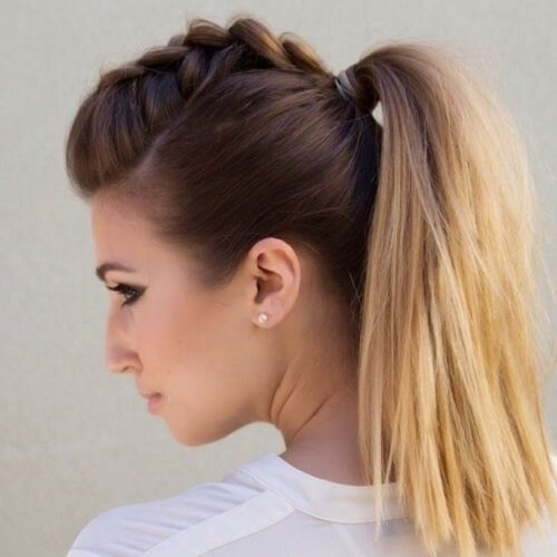 Faux Hawk Ponytail