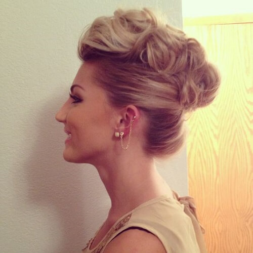 Faux Hawk Updo