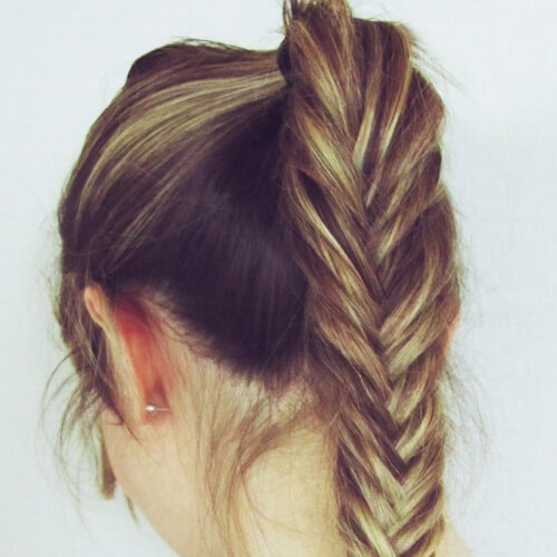Fishtail Braid Ponytails