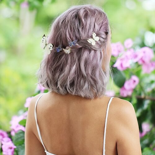 Gray Lavender Hair