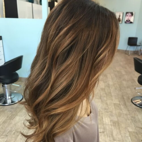Honey Brown Hair with Blonde Highlights