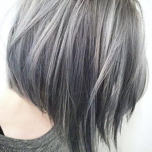 Long Gray A-line Bob