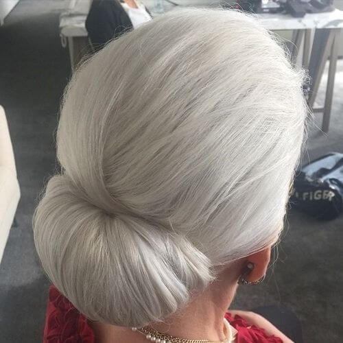 Long Hair Updos for Women Over 50