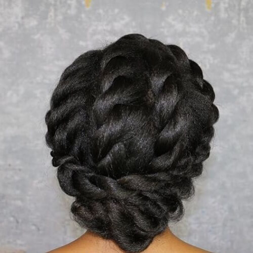 Natural Twisted Updos