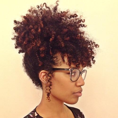 Permed Natural Hair and Bangs